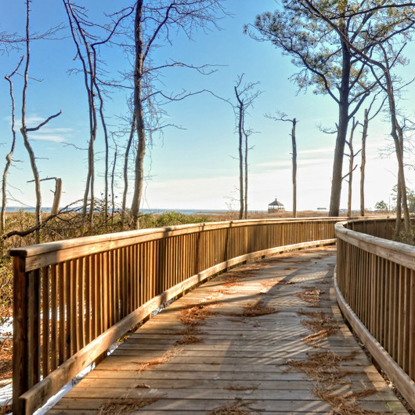 Bayfront at Rehoboth walkway to private beach